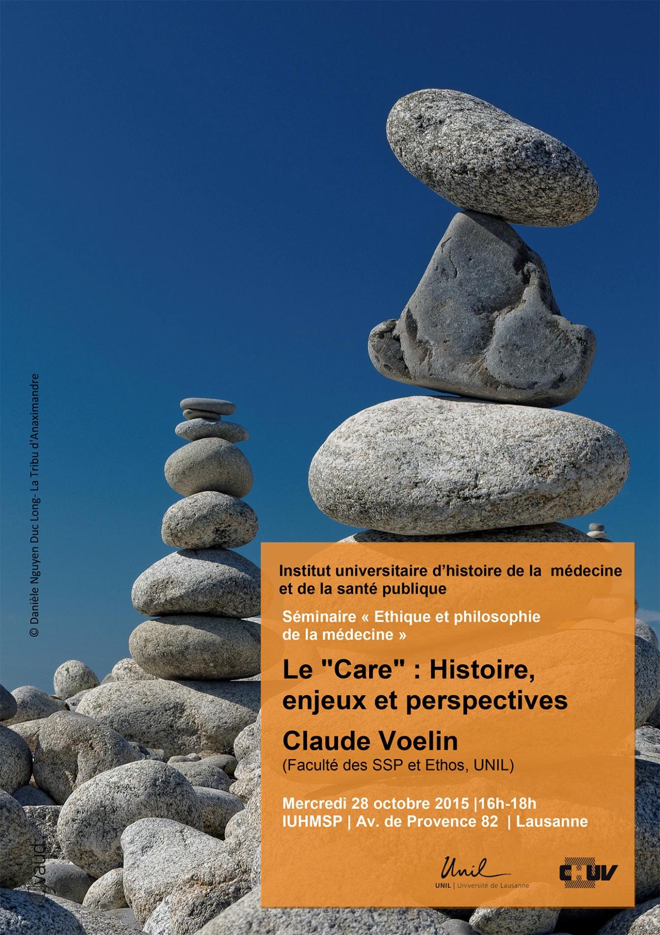 affiche séminaire Ethique et philosophie de la médecine Lausanne,
