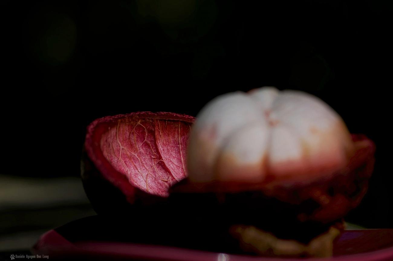 mangoustan - fruit et coque 2, Garcinia mangostana,