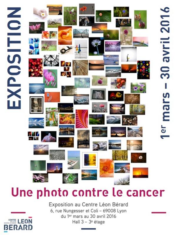 affiche une photo contre le cancer de Bernadette