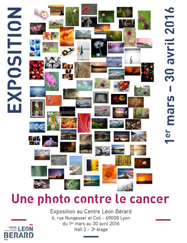 affiche une photo contre le cancer de Bernadette