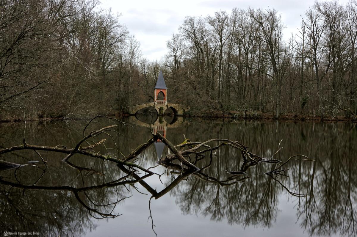 étang des 3 ducs, bois mort, étangs de Bonnelles, Bonnelles, château duchesse d'Uzes, pont des amours,