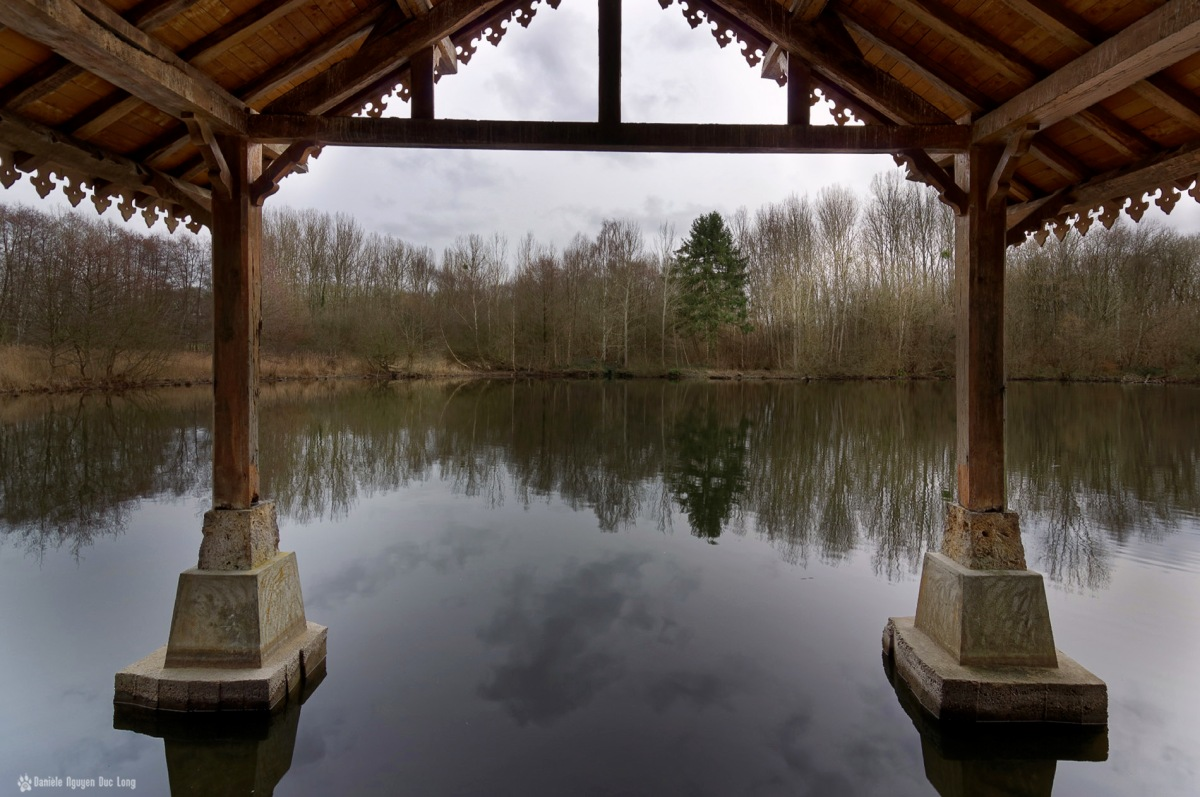 étang des 3 ducs, observatoir, embarcadère, étangs de Bonnelles, Bonnelles, duchesse d'Uzes,