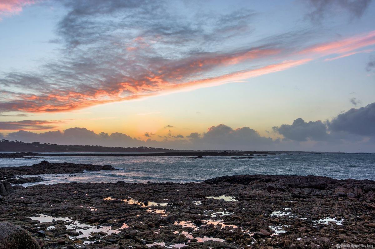 coucher soleil curnic flaques eau rochers blog