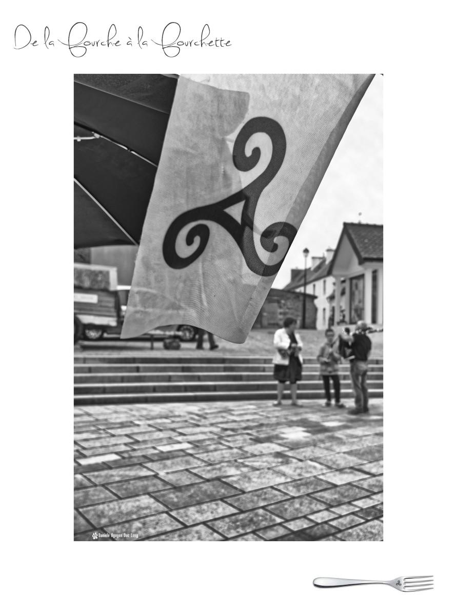 marché de la fourche à la fourchette, Guissény,Bretagne, Finistère, fanion triskel