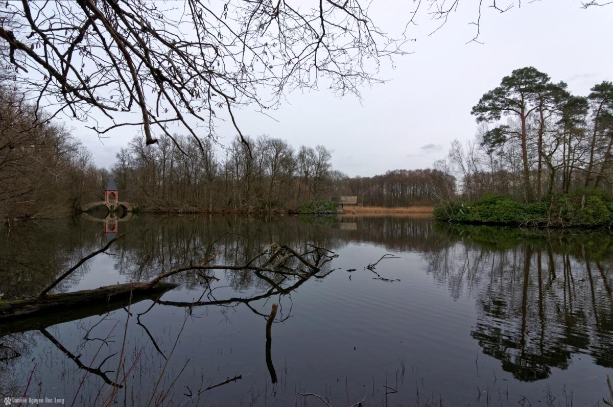vue d'ensemble étang des 3 ducs, étang des 3 ducs, observatoir, embarcadère, pont des amours, étangs de Bonnelles, Bonnelles, duchesse d'Uzes,