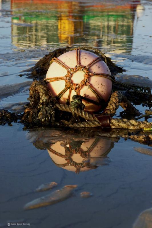 bouée au filet korejou, bouée d'amarrage, port de Korejou, Plouguerneau, Bretagne, Finistère