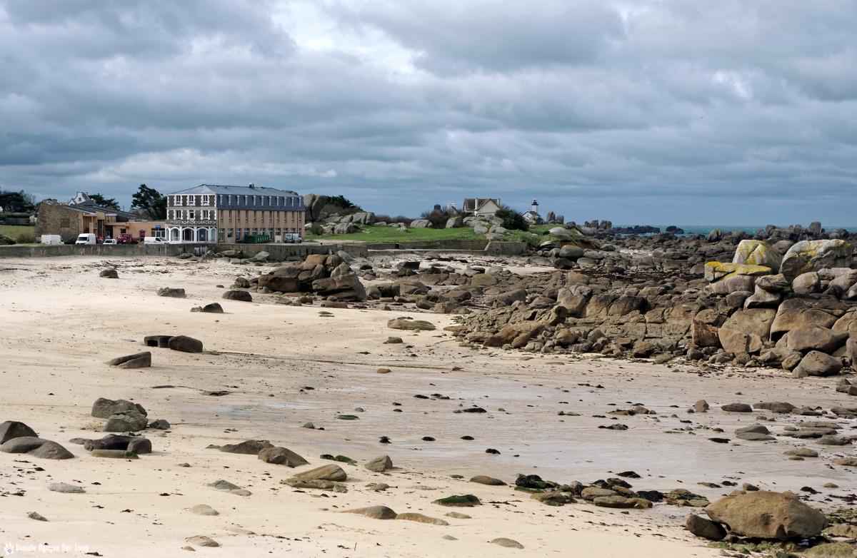 hôtel de la mer grève des chardons bleus brignogan vue d'ensemble, hôtel de la mer, Brignogan, Bretagne, Finistère