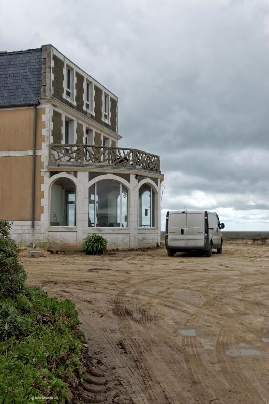 hôtel de la mer, la rotonde en travaux, hôtel de la Mer, Brignogan, Finistère, Bretagne