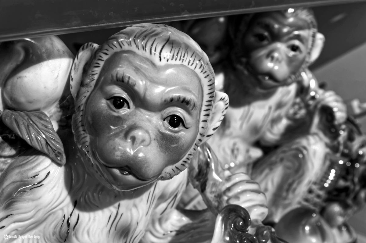 singe chinois année du singe, 2016,nouvel an chinois, statue de singe signe chinois,