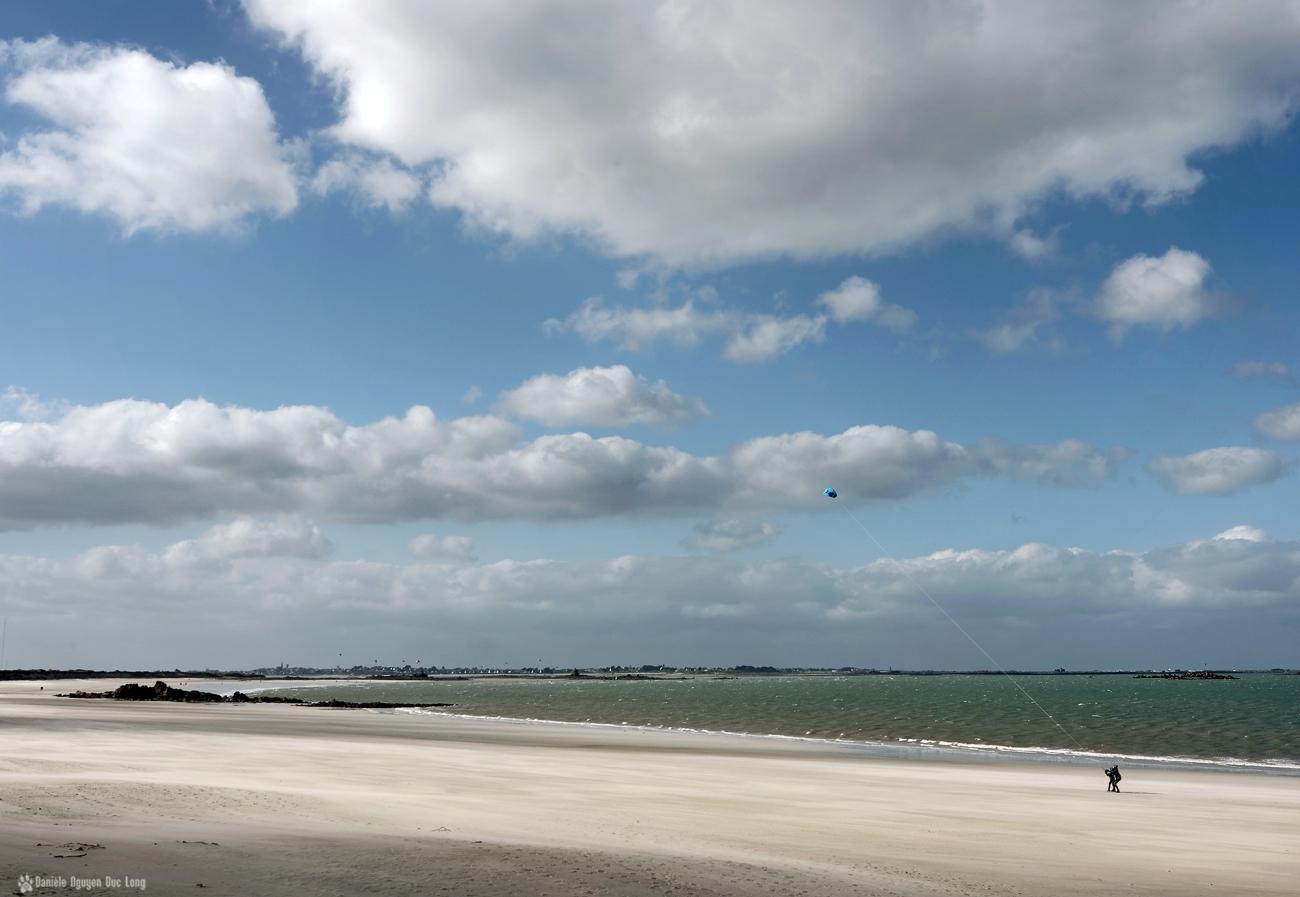 cerf volant plage dunes de keremma, Keremma, Plouescat, Bretagne, Finistère