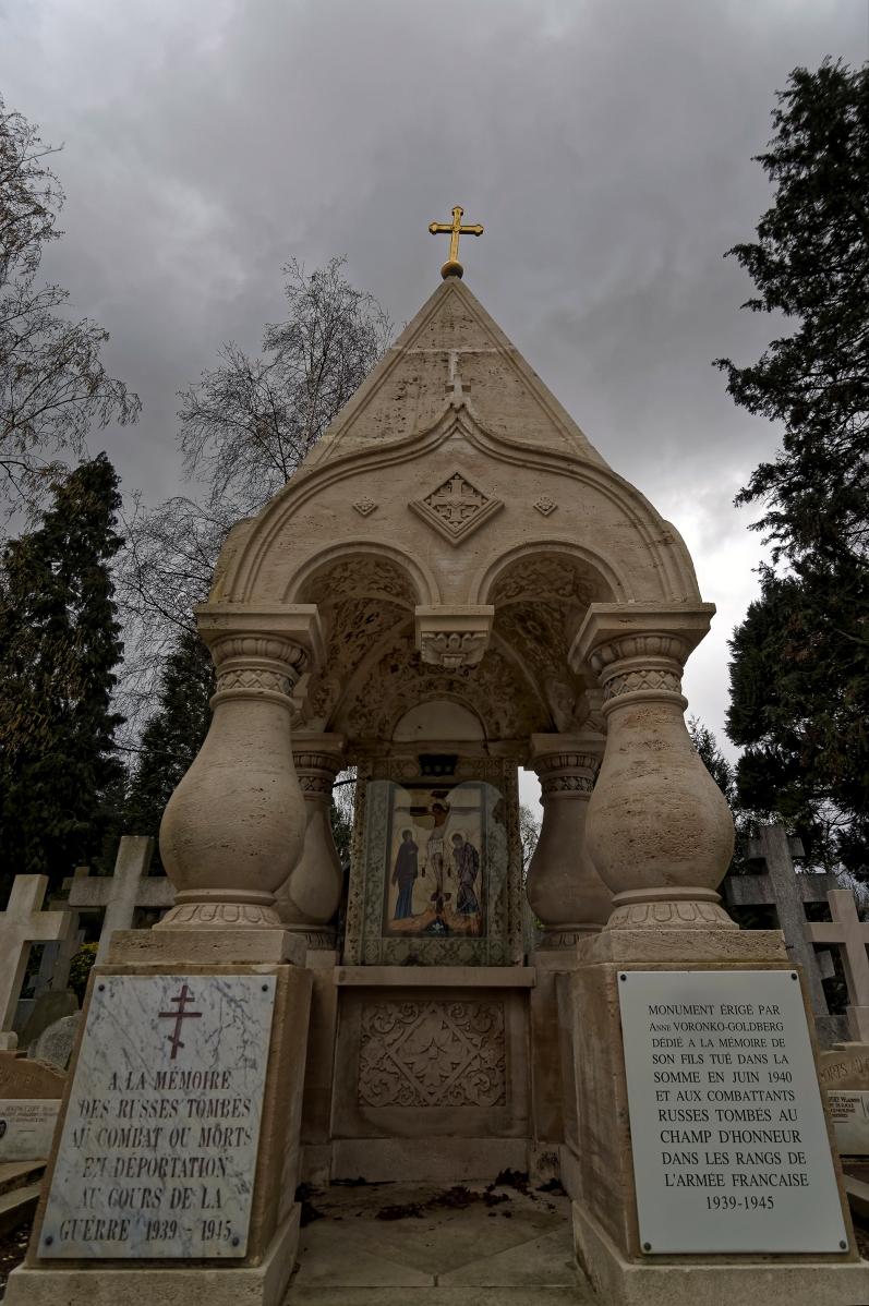 cimetière russe Ste-Geneviève-des-Bois monument aux combatants russes 1939-1945