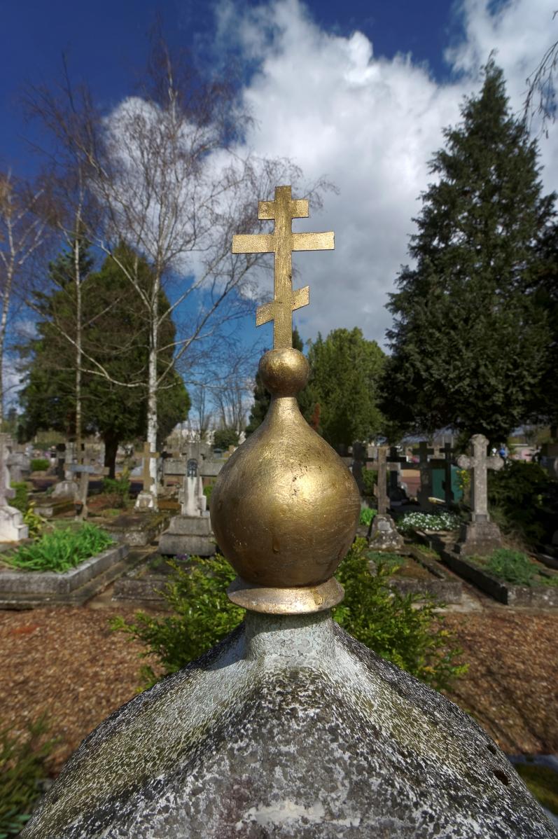 cimetière russe Ste-Geneviève-des-BoisDôme tombe or