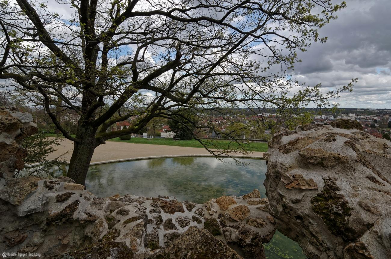 grottes de Juvisy vue depuis le haut des rocailles (1)