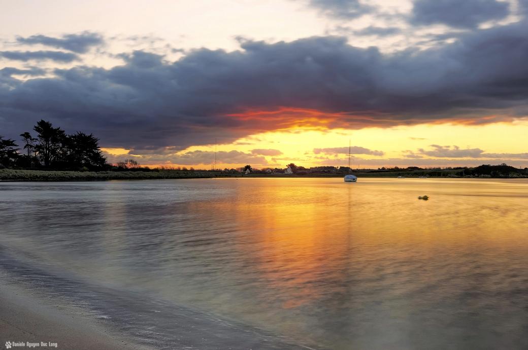 lever de soleil sur la baie de Guissény 01