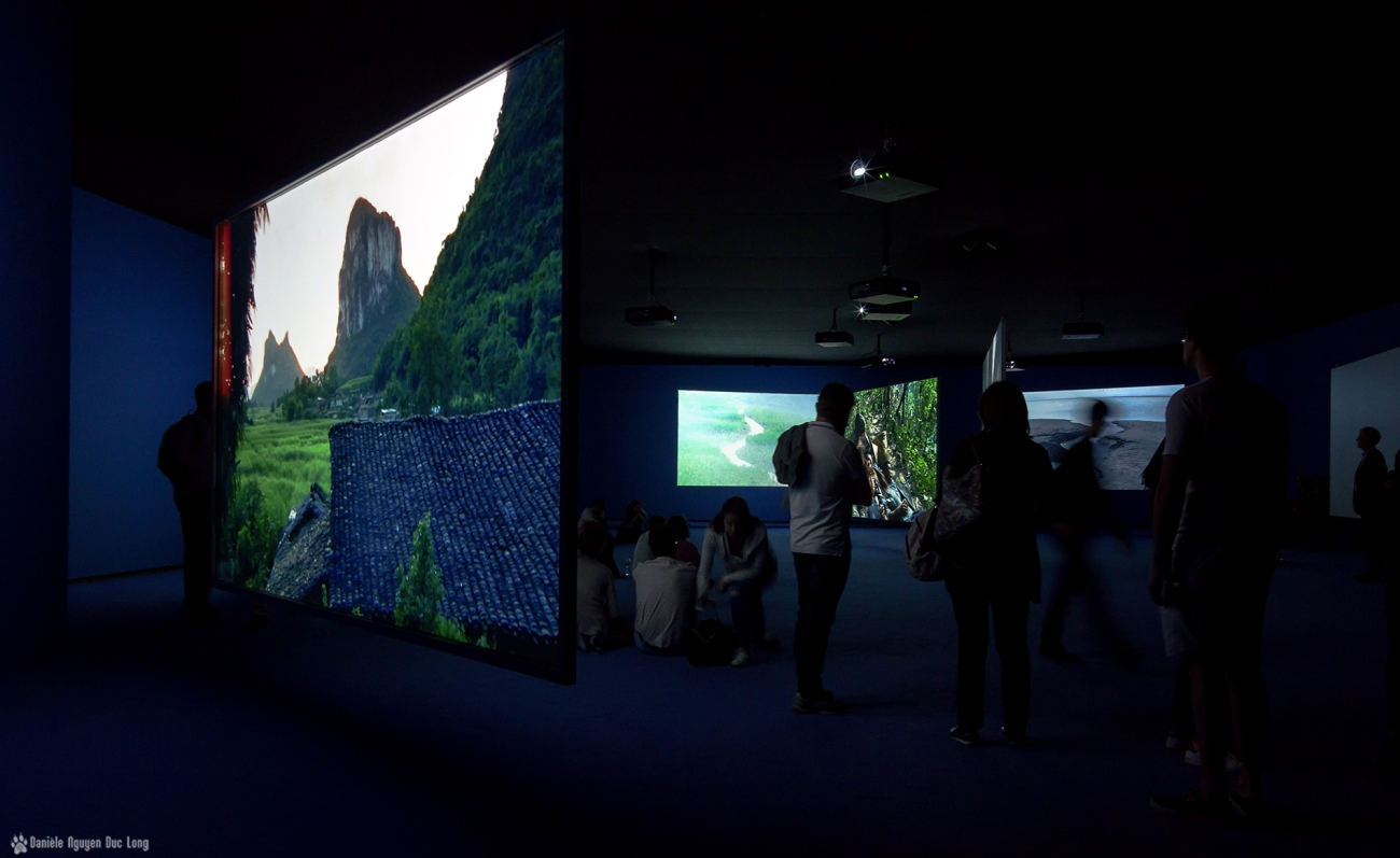Fondation Louis Vuitton expo 3 Ten Thousand Waves (2010) d'Isaac Julien paysages
