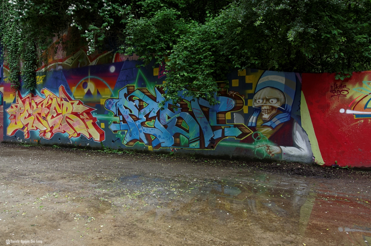 tunnel A10 divers grafs, street art, tags