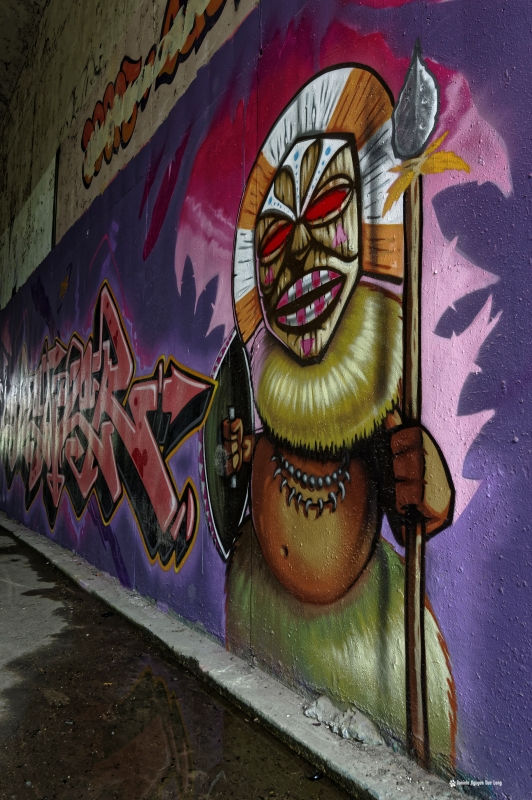 tunnel A10 sorcier vaudou, streetart, tags