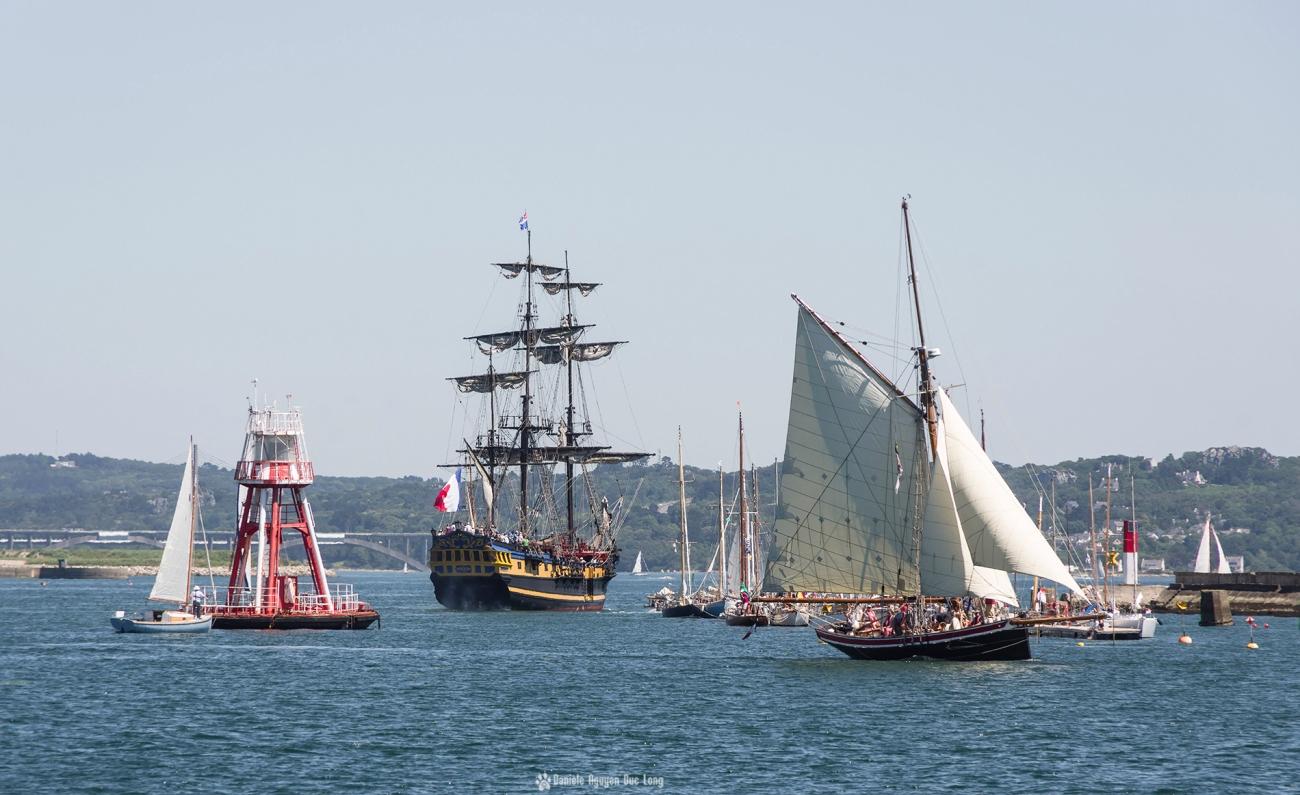 Brest 2016 sortie de l'Etoile du Roy du Port ,Brest 2016,Fête Maritime Brest 2016, Bretagne, Finistère