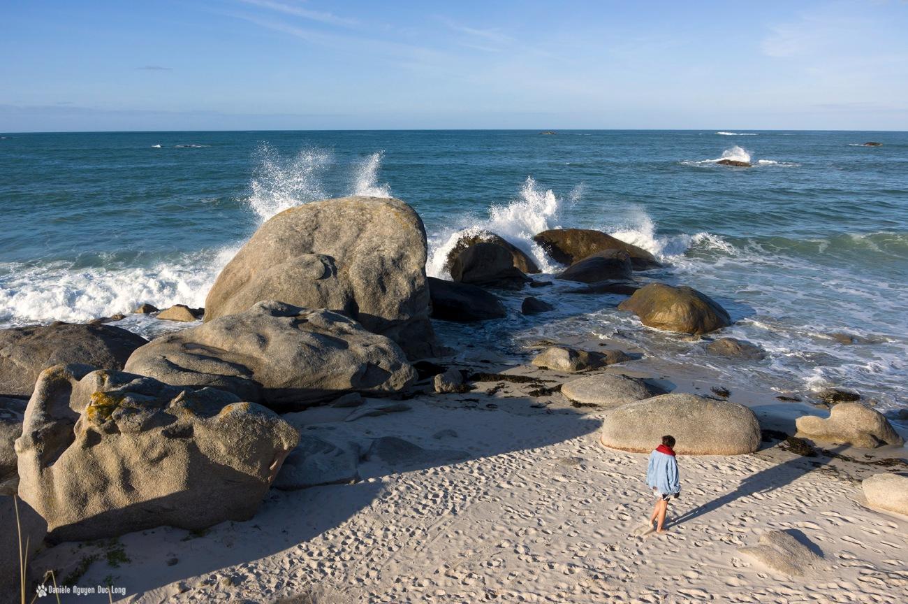 Kerlouan St-Egarec balade fin de journée sur la plage,Kerloua, Bretagne, Finistère