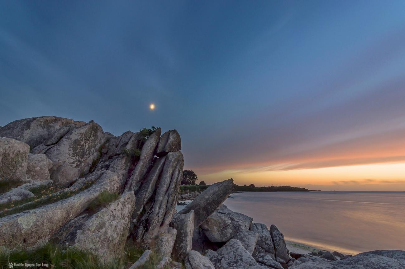 rochers croix Guissény pose longue coucher soleil sur la droite 01 copieDxO-blog