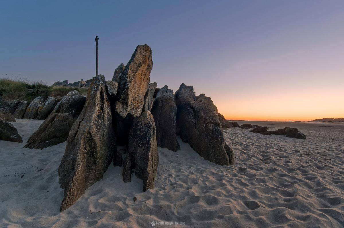 coucher soleil croix sable baie expo rochers2 copie