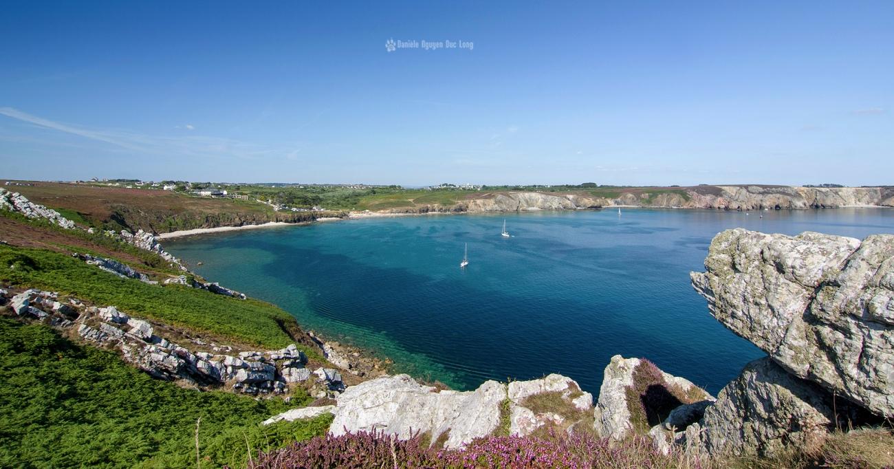 pointe de Pen Hir vue sur la plage du Veyrac'h, Crozon, Camaret-sur-mer, Bretagne, Finistère