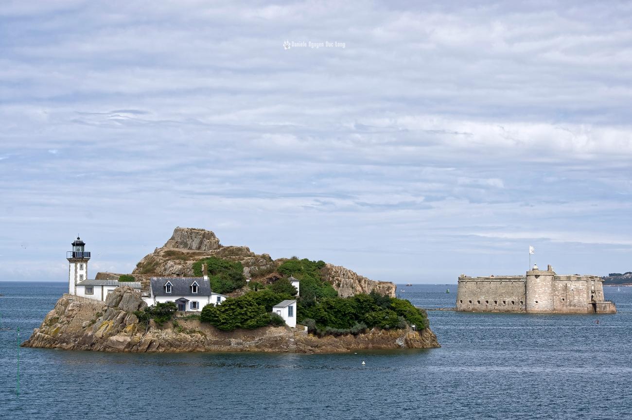 baie de Morlaix ile Louet et fort du taureau,baie de Morlaix, Bretagne, Finistère, île Louët, PENTAX HD-DA 55-300 mm f/4-5.8 ED WR,