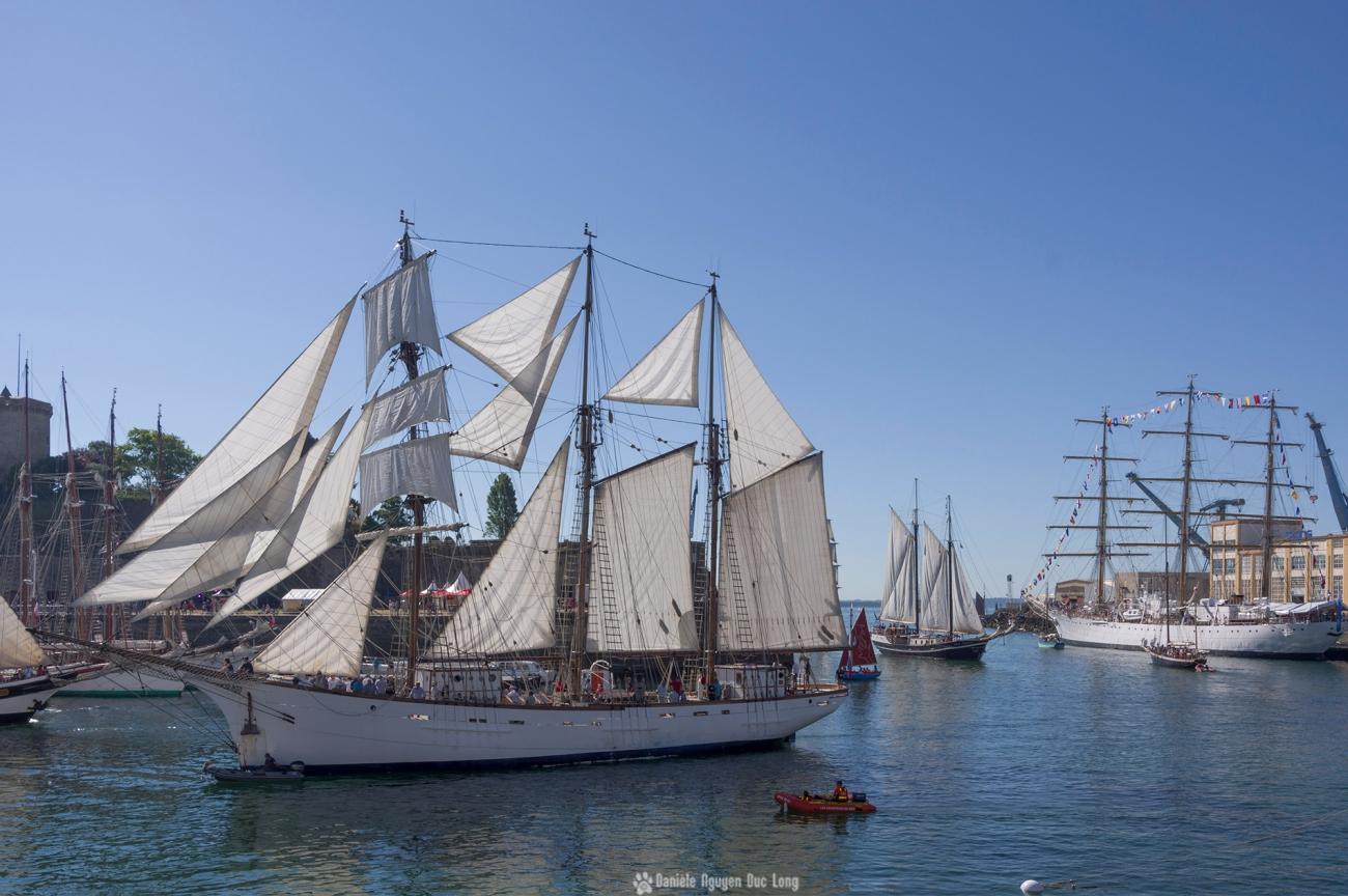 brest-2016-voilier-blanc-penfeld, fêtes maritimes de Brest, Brest, Finistère, Bretagne