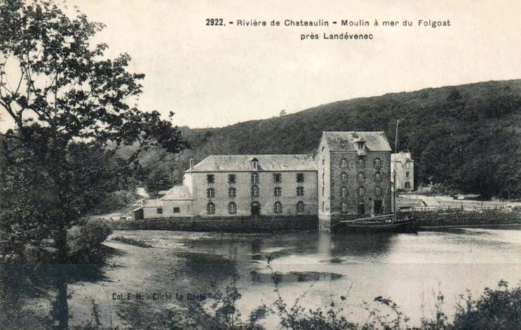 carte-postale-ancienne-moulin-maree-folgoat