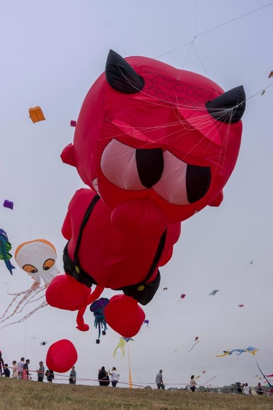 cerf-volant-diable, festival du vent et du cerf-volant à Porspoder, Porspoder, Bretagne, Finistère