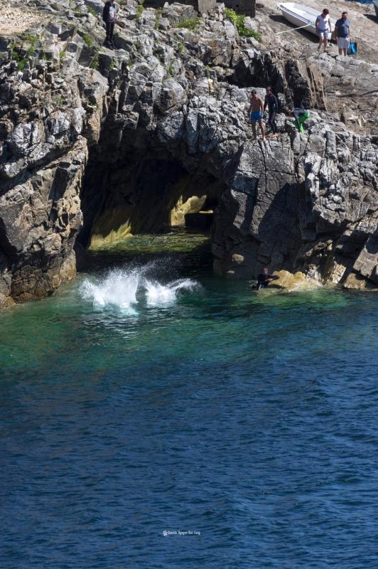 pors-loubous-vue-plan-rapproche-sur-plongeurs-,Pors Loubous, Plogoff, Bretagne, Finistère