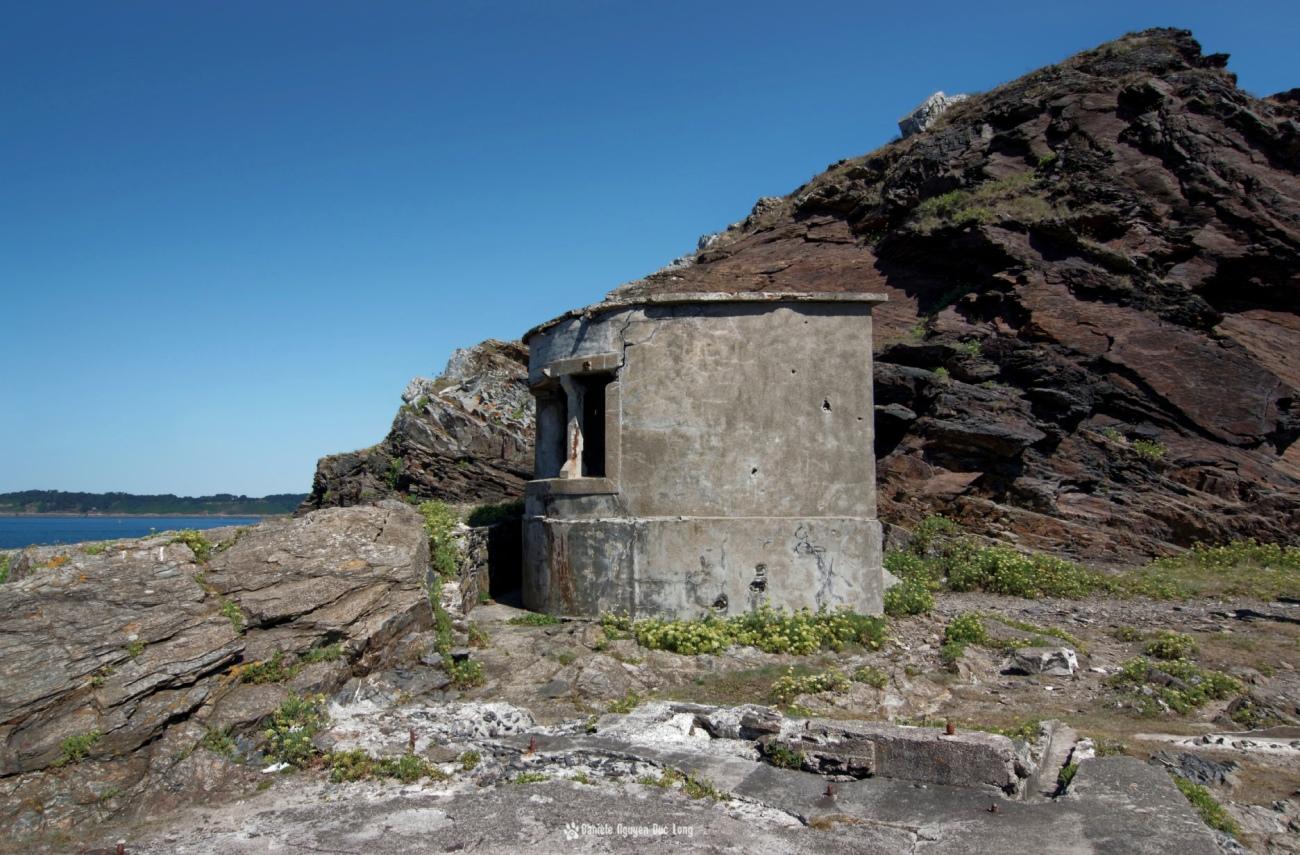 tourelle-au-fort-des-capucins, Roscanvel, îlot du Capucin, Bretagne, Finistère