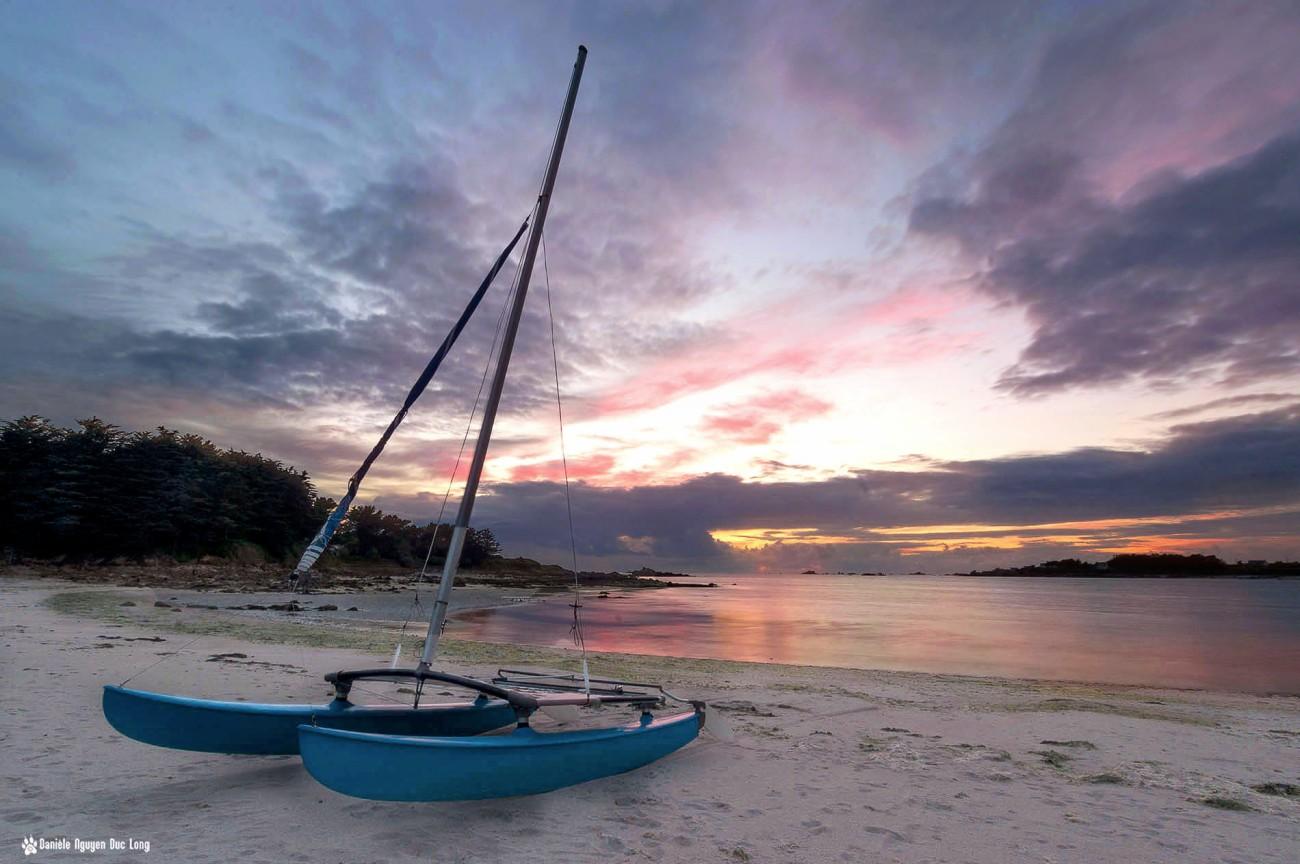 coucher-soleil-cata-baie-, coucher de soleil, coucher de soleil en baie de Guissény, Guissény, Bretagne, Finistère