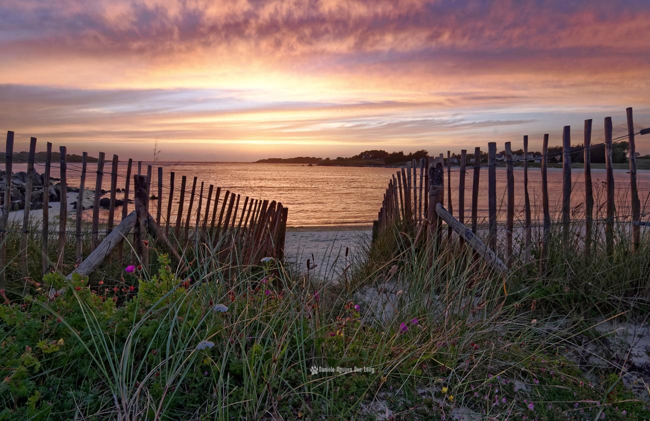 crepuscule-dun-soir-en-baie-de-guisseny, Guissény, coucher de soleil, Bretagne, Finistère