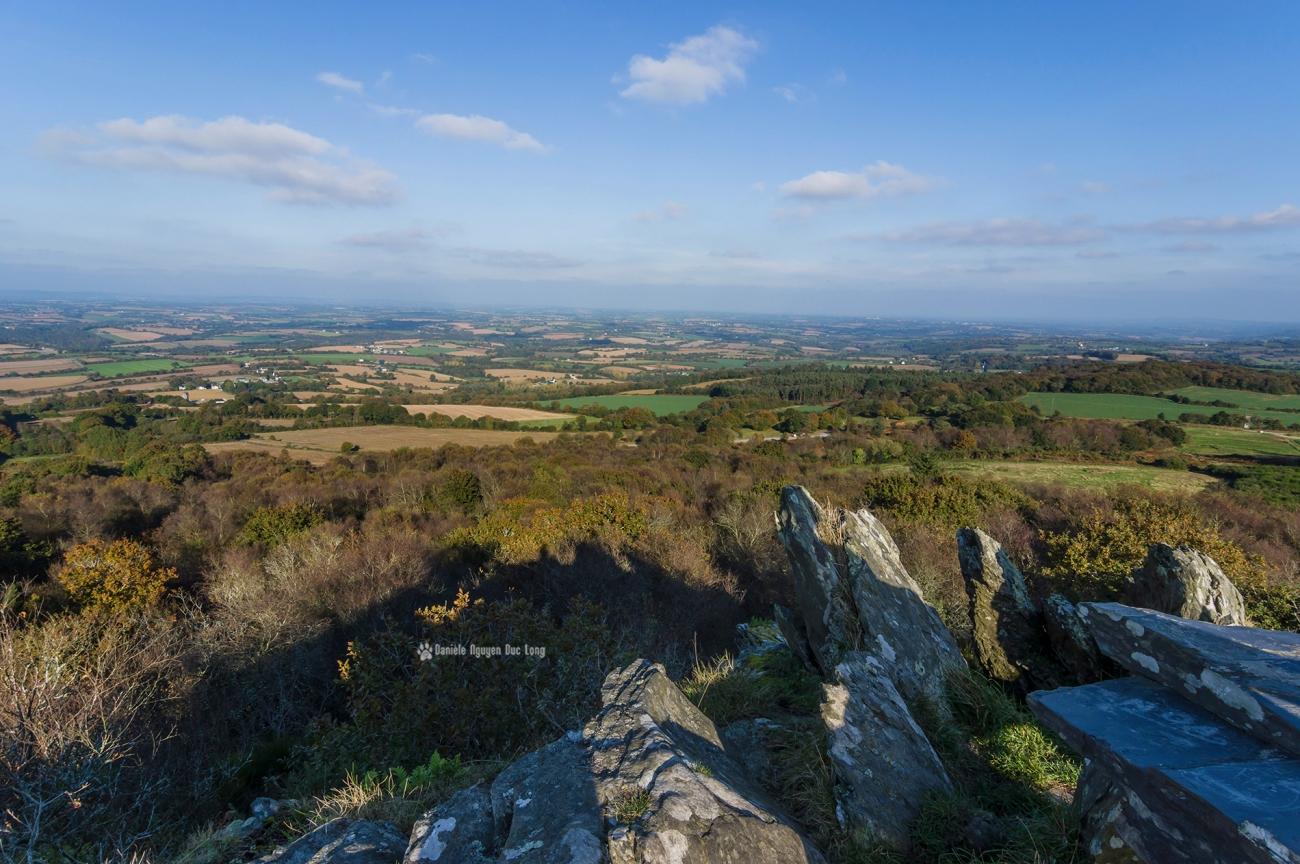 la-roche-de-feu-vue-01-, La Roche de Feu - Karreg An Tan, Montagnes Noires, Gouézec, Bretagne, Finistère