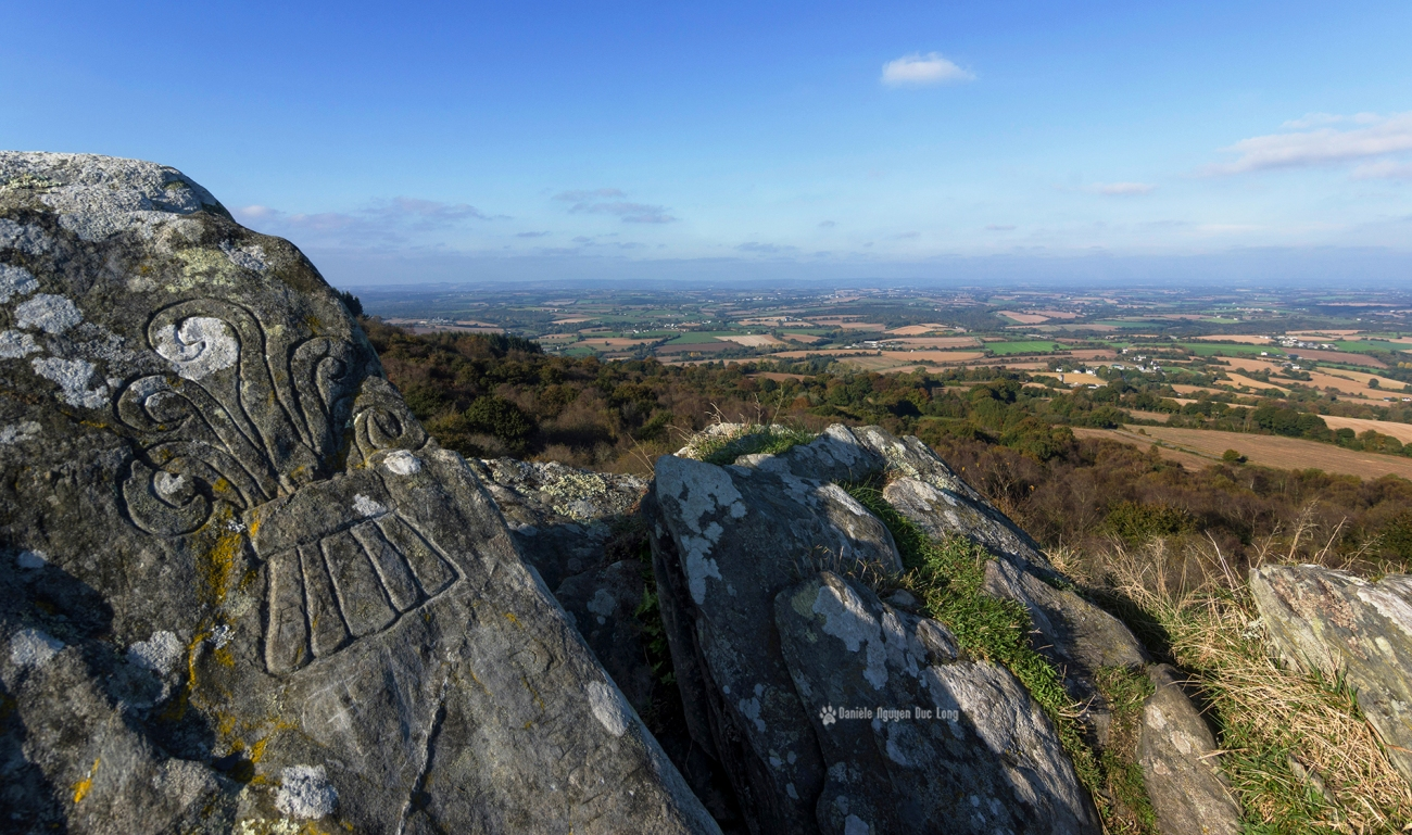 la-roche-de-feu-vue-03-, La Roche de Feu - Karreg An Tan, Montagnes Noires, Gouézec, Bretagne, Finistère