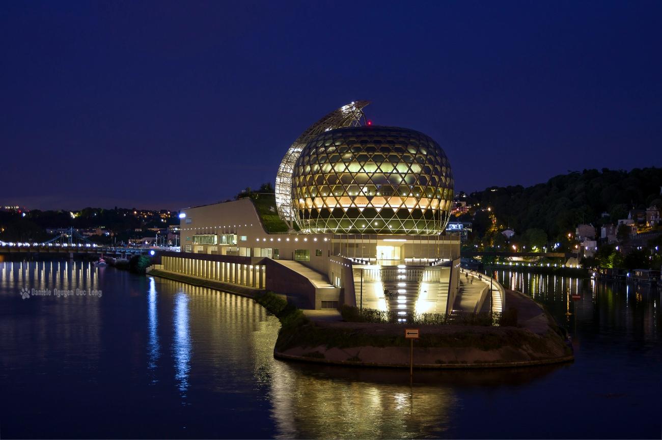 La Seine Musicale, île Séguin, Boulogne Billancourt, La Seine, La Seine Musicale vue du pont de Sèvres