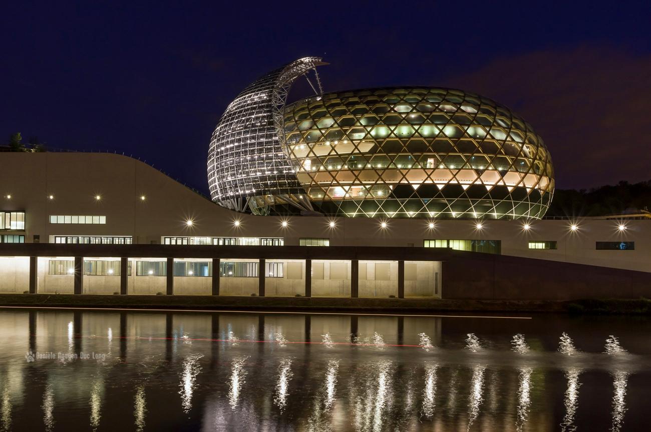 La Seine Musicale, île Séguin, Boulogne Billancourt, La Seine, La Seine Musicale vue du quai Georges Gorse