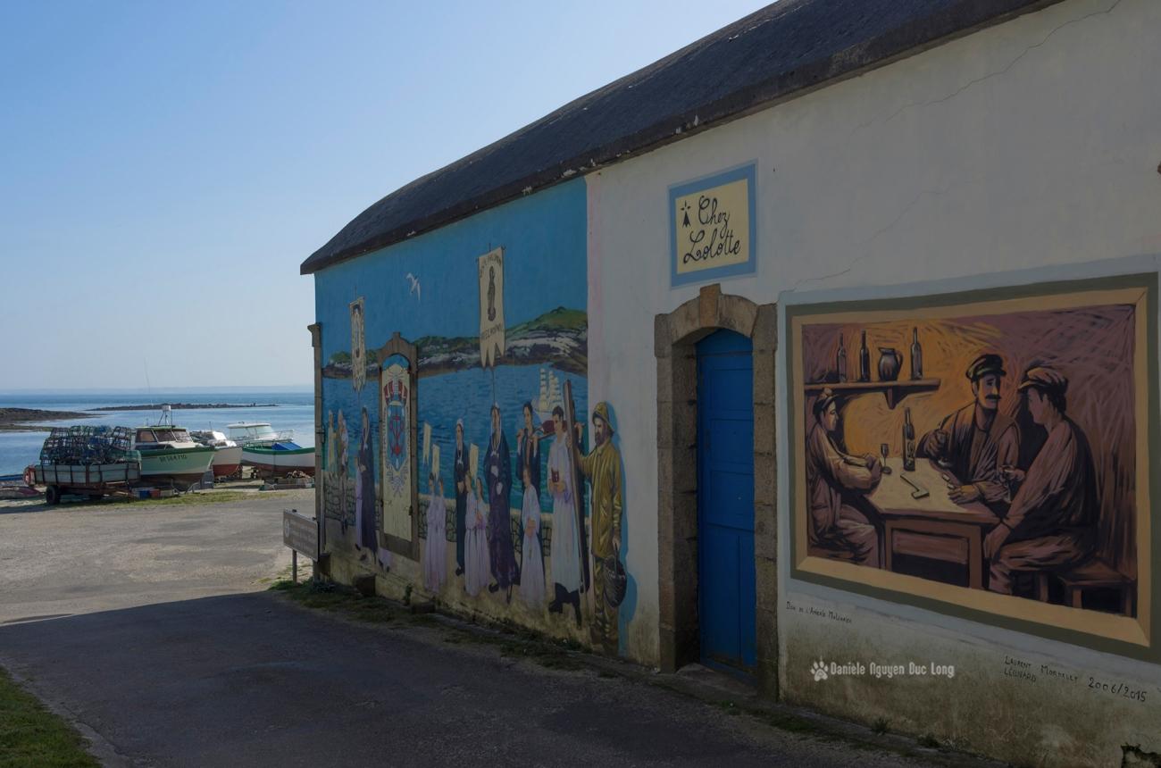 abri marins de Molène et fresques