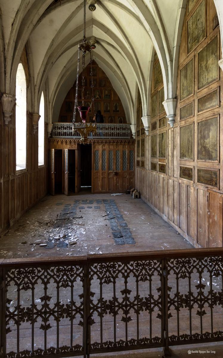urbex château Stromae chapelle depuis le choeur