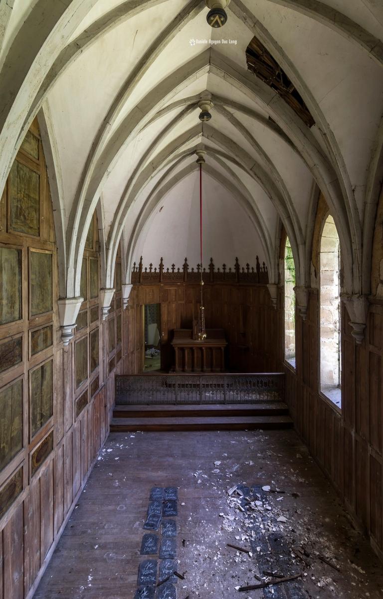 urbex château Stromae chapelle depuis le balcon