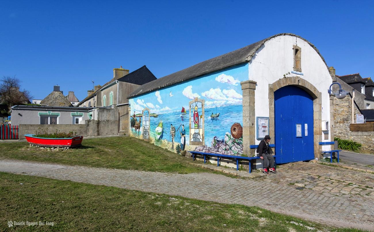 abri marins île de Molène et ses fresques