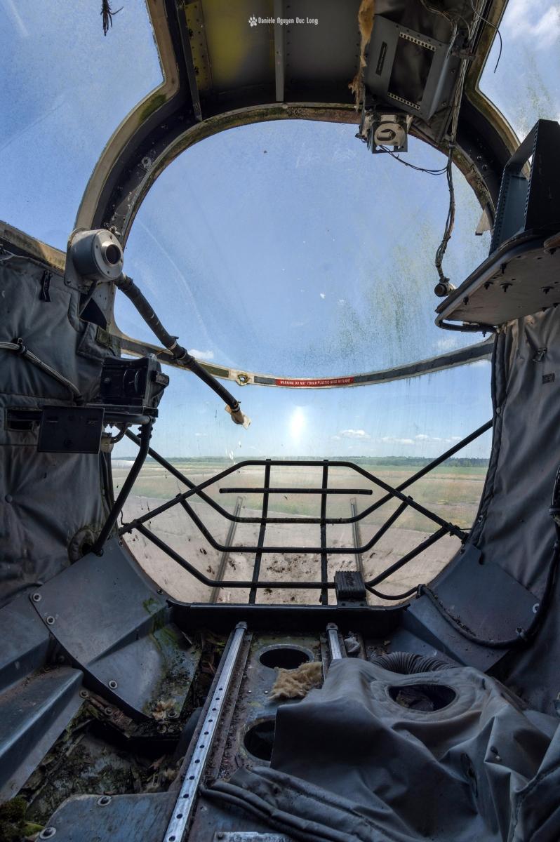 urbex - Top Gun - Planes, cimetière d'avions, Bloch MB175T tourelle ventrale