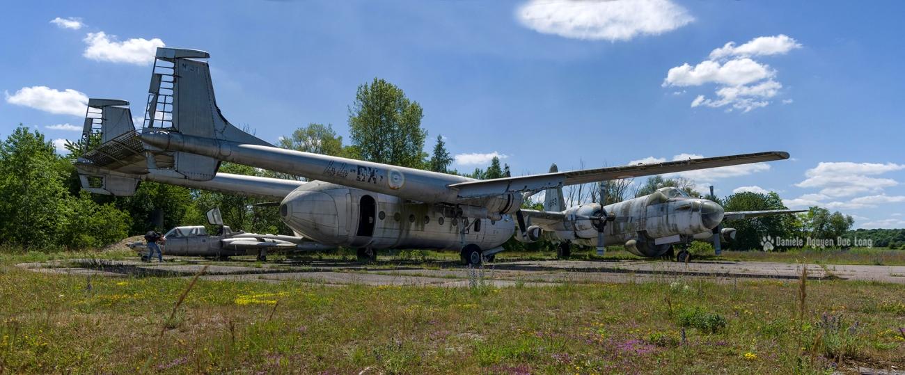 urbex - Top Gun - Planes, cimetière d'avions, vues extérieures, Bloch MB175T, cargo Noratlas