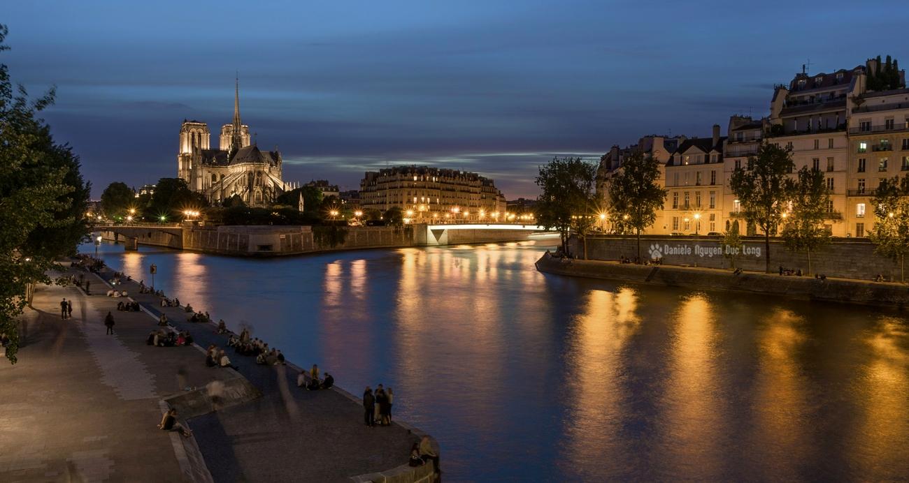 île de la Cité, île Saint-Louis, Pont de l'archevêché, Pont Saint-Louis, Cathédrale Notre Dame de Paris, Quai d'Orléans, La Seine