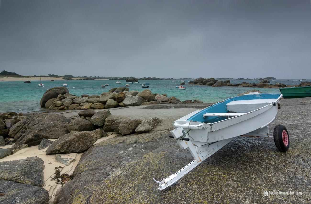 mauvais temps en Finistère, Bretagne, Finistère, Ruduloc, Ménéham, Kerlouan, annexe blanche et bleue