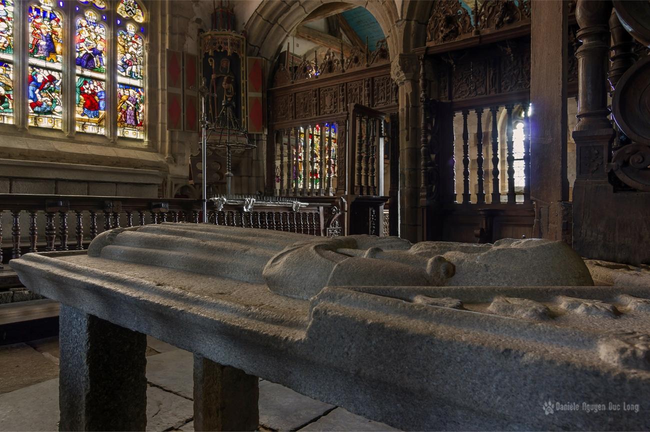 le gisant de saint Herbot