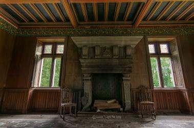 urbex château gargouilles salon cheminée copie