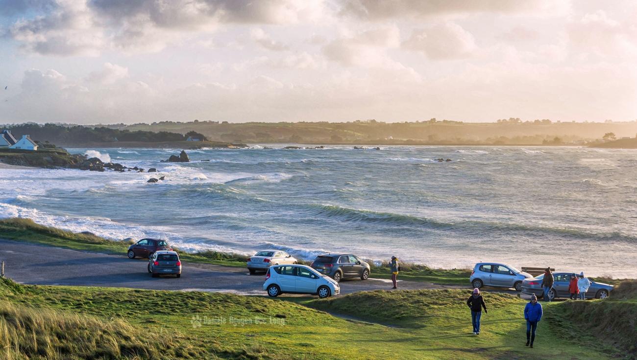 pointe de Neïz Vran, tempête Carmen, Bretagne, Finistère