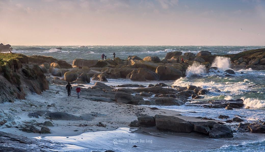 pointe de Neïz Vran, île aux Vaches, tempête Carmen, Bretagne, Finistère